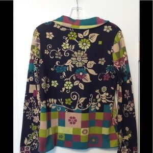 IVKO Sweaters - IVKO Summer Jacquard Embroidered Cotton Cardi Med
